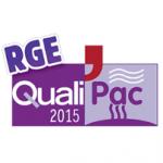 Logo RGE QUALIPAC pour l'obtention du crédit d'impôt thermodynamique Philippe Foubert 33700 Mérignac